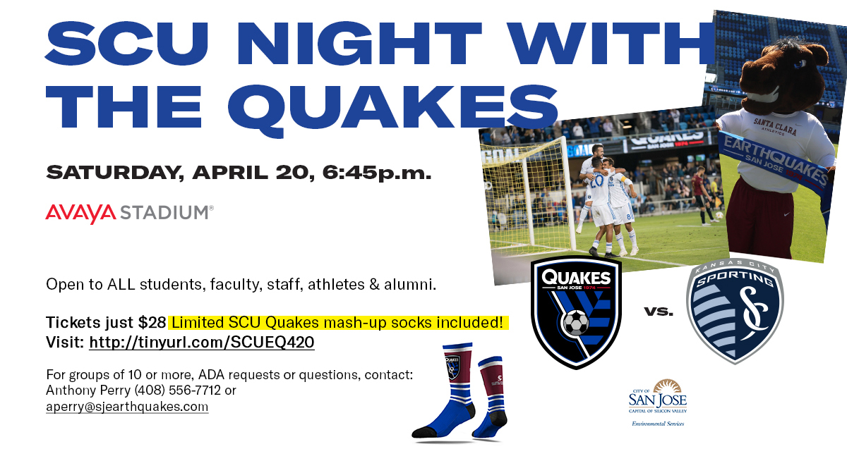 College Night with the San Jose Earthquakes Set for April 20